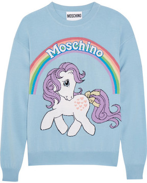 Moschino My Little Pony Intarsia Wool Sweater - Blue