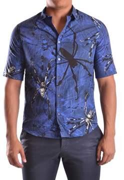 McQ Men's Blue Cotton Shirt.