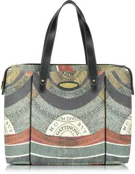 Gattinoni Planetarium Square Double Handle Top Zip Tote