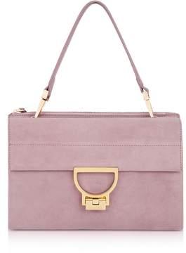 Coccinelle Mauve Suede Arlettis Shoulder Bag