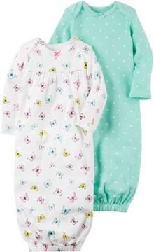 Carter's Baby Girls 2-pk. Little Sweet Heart Gowns 3 Month Green