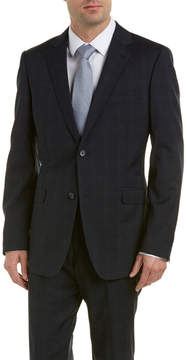 Zanetti Wool Suit With Flat Front Pant