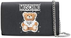 Moschino logo Teddy clutch