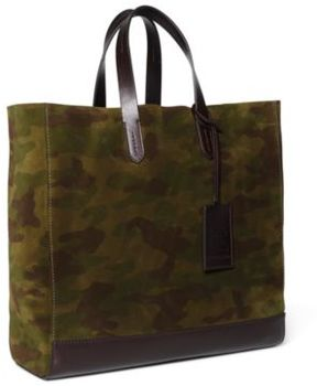 Ralph Lauren Camouflage Suede Tote Camouflage One Size
