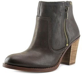Lucky Brand Eugina Women Open-toe Leather Brown Ankle Boot.