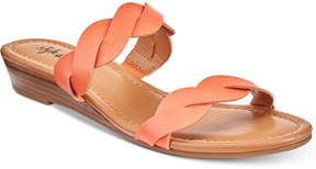 Style&Co. Style & Co Wennde Slip-On Wedge Sandals, Created For Macy's Women's Shoes