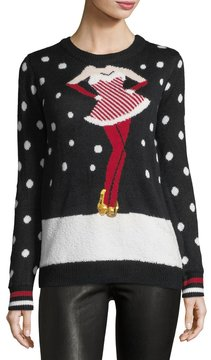 Chelsea & Theodore Rockettes Polka-Dot Knit Sweater