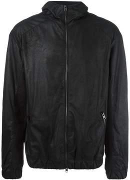 Isabel Benenato hooded leather jacket