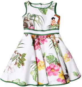 MonnaLisa Jungle Book Printed Cotton Poplin Dress