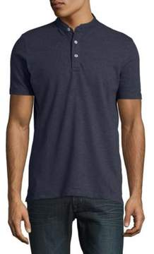 Selected Textured Stretch-Cotton Henley