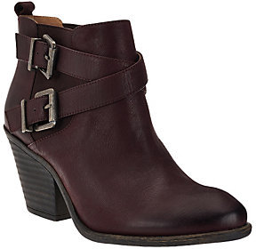 Sole Society As Is Leather Ankle Boots w/ Buckle Detail - Maris