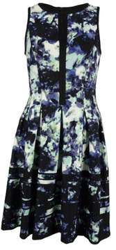 Vince Camuto Women's Front Keyhole Flare Dress (8, Print)