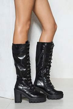 Nasty Gal Rise to the Challenge Vegan Leather Boot