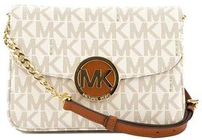 Michael Kors Vanilla Signature Leather Fulton Flap Gusset Crossbody Bag - VANILLA - STYLE