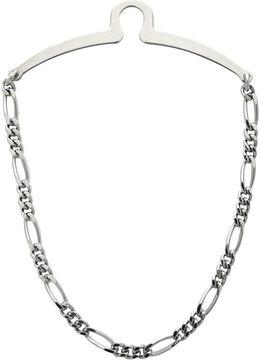 Accessories Rhodium-Plated Tie Chain