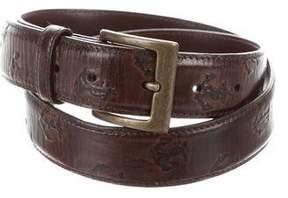 Jack Spade Embossed Leather Belt