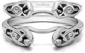 Celtic TwoBirch Infinity Ring Guard Enhancer in Sterling Silver (0.24ctw)
