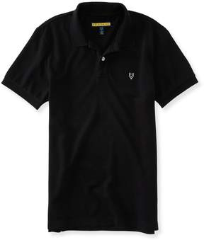 Aeropostale Prince & Fox Solid Stretch Pique Polo