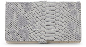 adrienne vittadini Grey Snake-Embossed Charging Crossbody Wallet