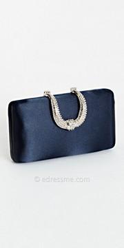 Camille La Vie Rhinestone Horseshoe Closure Box Bag