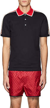 Gucci Men's Logo Striped Polo Shirt