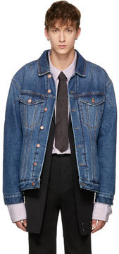 Martine Rose Indigo Darted Denim Jacket