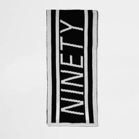 River Island Boys black knit 'ninety' football scarf