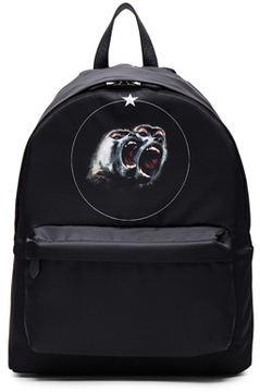Givenchy Printed Backpack in Black.