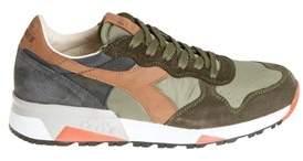 Diadora Heritage Men's Green Leather Sneakers.