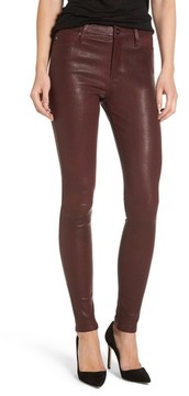 AG Jeans Women's Farrah Leather Skinny Jeans