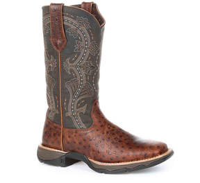 Durango Women's Ostrich Cowboy Boot