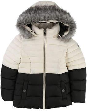 Karl Lagerfeld Two-Tone Puffer Jacket, Size 6-10