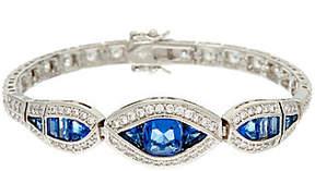 Elizabeth Taylor As Is The Sim. Sapphire Tennis Bracelet