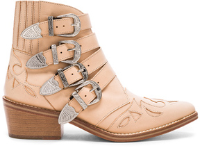 Toga Pulla Leather Booties in Neutrals.