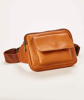 Le Donne Tan Journey Leather Belt Bag