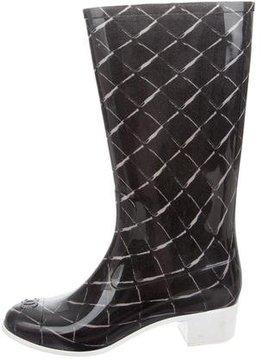 Chanel Mid-Calf Rain Boots