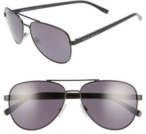 BOSS Men's '0761/s' 60Mm Polarized Aviator Sunglasses - Matte Black