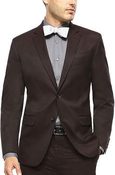 Jf J.Ferrar JF Burgundy Twill Suit Jacket - Slim Fit
