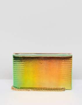 Asos Zip Around Hologram Box Clutch Bag