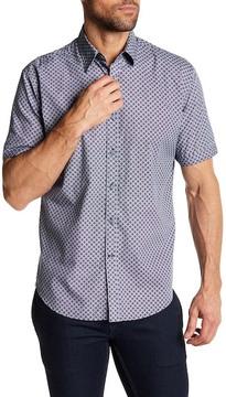James Campbell Gaines Short Sleeve Regular Fit Print Woven Shirt