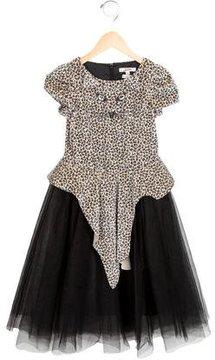 Junior Gaultier Girls' Leopard Print Tulle Dress