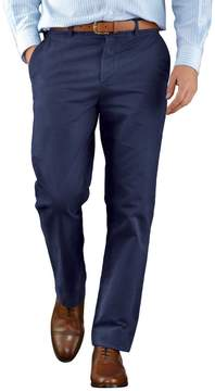 Charles Tyrwhitt Blue Slim Fit Flat Front Weekend Cotton Chino Pants Size W32 L34