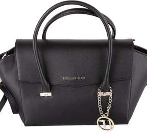 Trussardi Levanto Saffiano Faux Leather Top Handle Bag