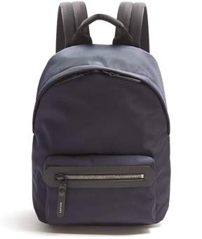 Lanvin Leather-trimmed canvas backpack