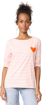 Chinti and Parker Stripe Heart Tee