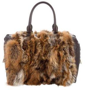 Michael Kors Fur-Trimmed Leather Bag