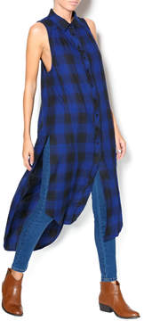 Bobi Plaid Sleeveless Shirt