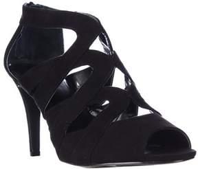 Style&Co. Sc35 Uliana Strappy Peep Toe Sandals, Black.