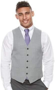 Chaps Men's Classic-Fit Wool-Blend Light Gray Suit Vest