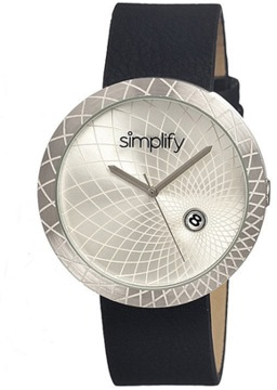 Simplify The 1800 Leather-band Watch.